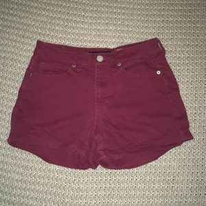 High Waisted Maroon Shorts Aeropostale